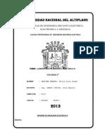 Informe de Maquinas Electricas II