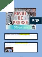 Revue de Presse Litteraire Ipagination Juillet 2013