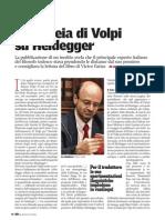 Volpi Franco, Livia Profeti Su Left 15-05-09 L Aletheia Di Volpi Su Heidegger