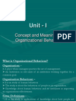 29855030 Concept and Meaning of Organizational Behavior