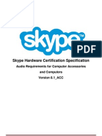 Skype Cert Desktop API Spec Audio Draft