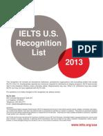 IELTS USA Recognition Feb 2013