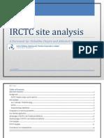 IRCTC site analysis