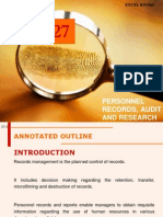 Personnel Audit & Research 2013
