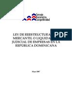 Propuesta de Ley de Reestructuracion Mercantil