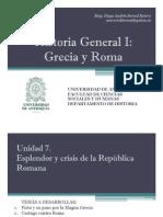 Unidad 7 Esplendor y crisis de la República