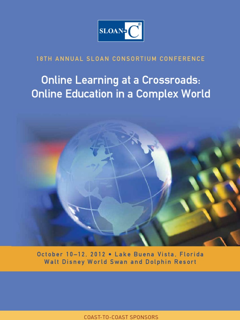 Sloan c international conference on online learning educational sloan c international conference on online learning educational technology walt disney parks and resorts fandeluxe Gallery