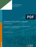 QEF_189_ITA Politiche regionali e mercato del lavoro femminile