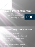 Group Psychotherapy Stages Feb 24
