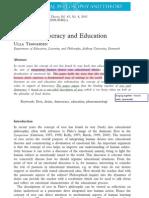 THØGERSEN 2011 - Desire, Democracy and Education