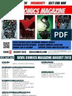 Devil Comics Magazine August 2013