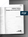 Press Tools Design and Construction by P H JOSHI