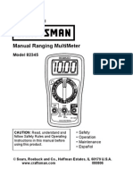Craftsman 82345 Multi Meter manual