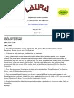 Laura Newsletter Number 18