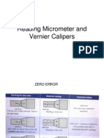 Micrometer & Veriner Caliper Reading