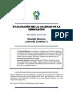 EVALUACIÓN DE LA CALIDAD DE LA EDUCACIÓN