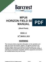 Mpu6 -Generic Horizon-manual-short-Form Issue 1.3- No Safety
