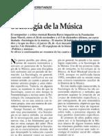 Barce, R. Sociología de la música