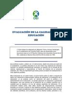 EVALUACIÓN DE LA CALIDAD DE LA EDUCACIÓN.