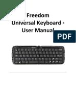 Freedom Universal Keyboard User Manual