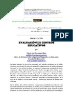 EVALUACIÓN DE CENTROS EDUCATIVOS