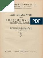 Auktionskatalog XVIII, enthaltend