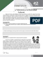 Ficha 2, El Respeto y Tolerancia a La Diversidad Cultural