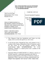 Foreclosure Fraud Complaint vs Wells Fargo