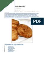 Egg Manchurian Recipe