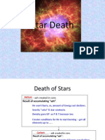 Star Death in Space