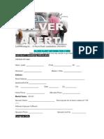 Silver Alert Information Form