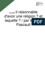 Est-Il Raisonnable d'Avoir Une Religion