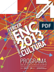 ENC - Programa Del Tercer Encuentro Nacional de Cultura