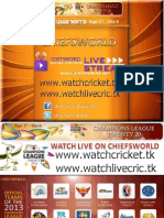 Champions League T20 2013 Fixtures and Schedule
