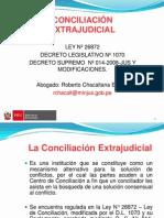 Ley de Conciliacion y Modificaciones Por d.l 1070 (28!05!2010) Cusco