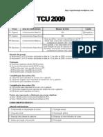 Edital compilado do TCU 2009