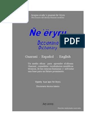 Diccionario Técnico Guarani Español Inglés Elementos