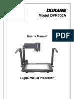 DVP 505A User Guide