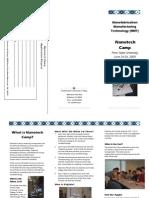 2009 Nanotech Camp brochure