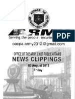 03 Aug 13 Newsclippings