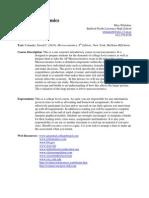 ap microeconomics syllabus