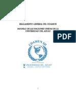 Reglamento Udamun III 2012
