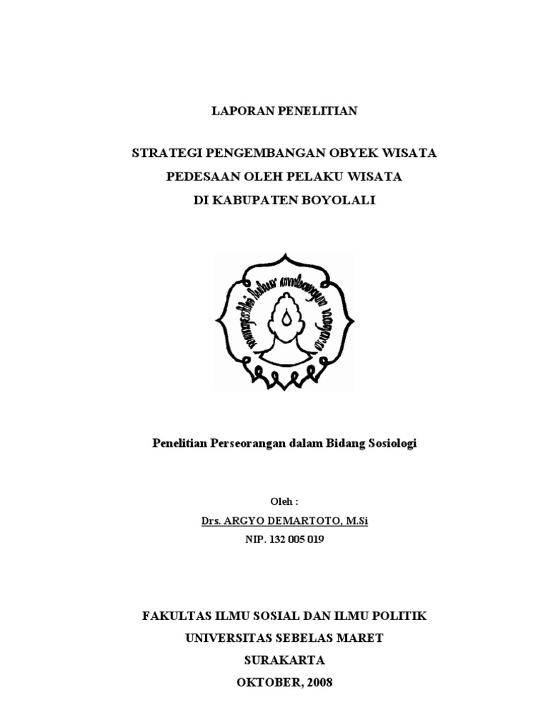 Contoh Skripsi Pariwiasata