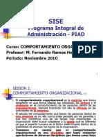 SISE - PIAD Comportamiento Organizacional