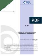 Politicas de Reforma Educativa, Comparacion Entre Paises