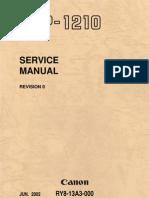 Canon LBP-1210 Service Manual