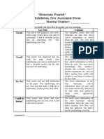 Historians Wanted Rubric