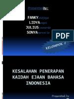KESALAHAN PENERAPAN KAIDAH EJAAN BAHASA INDONESIA.ppt