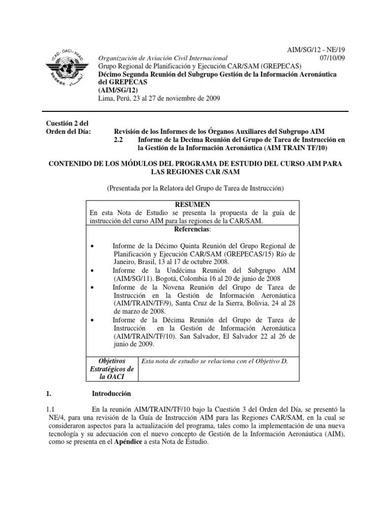 CONTENIDO DE LOS M+ôDULOS DEL PROGRAMA DE ESTUDIO DEL CURSO AIM PARA ...
