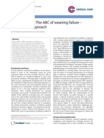 The ABC of Weaning Failure - A Structured Approach